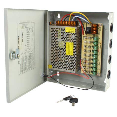 Power Supplay Panel Box 9ch 12v 10a 9ch dc12v 10a power supply distribution box cctv security surveillance ebay