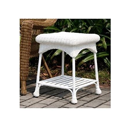 wicker outdoor white wicker patio furniture end table