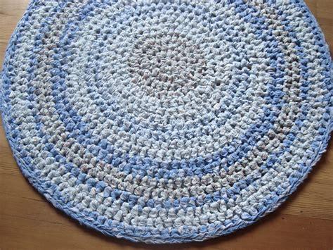 crochet light rug crochet rag rug blue rag rug light blue 32