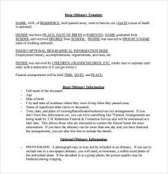 newspaper obituaries template notice template 9 free documents in pdf