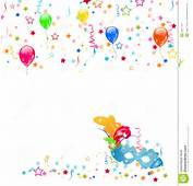 Carnival Background With Mask Confetti Balloons Stock