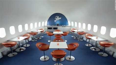 Large Dining Room Table creative ways to recycle a plane cnn com