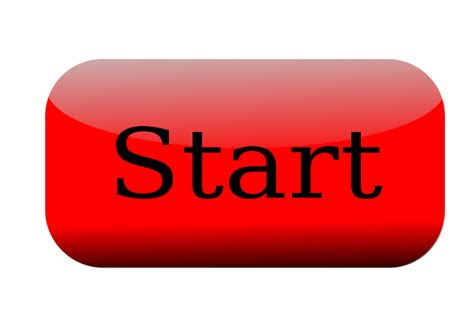 art startup press start button clipart