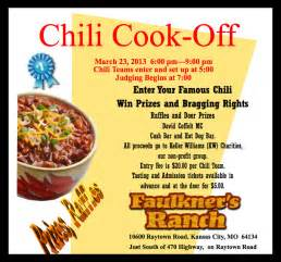Chili Cook Flyer Template by Faulkner S Ranch April 2013