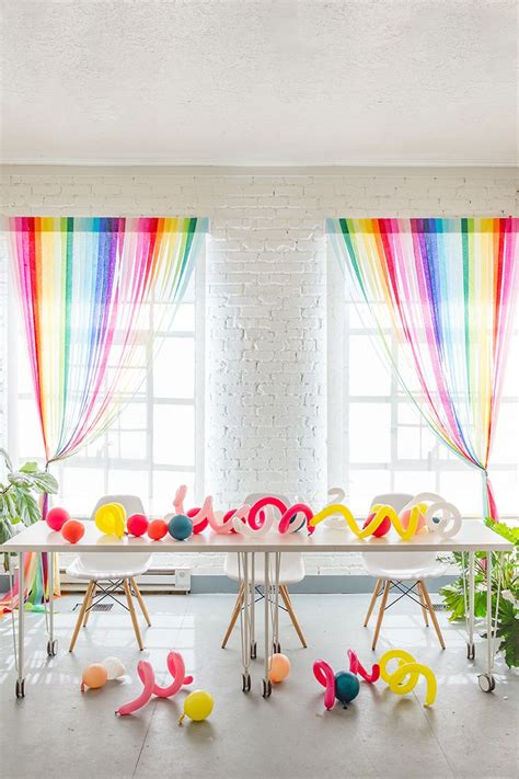 streamer curtains diy rainbow streamer curtains to make your party a little