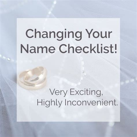 Wedding Name Change by Name Change Checklist Wedding Planning