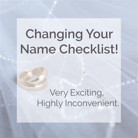 Wedding Checklist Name Change by Name Change Checklist Wedding Planning