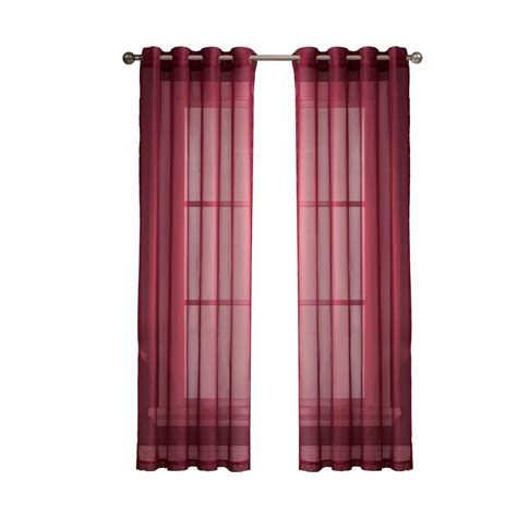 sheer elegance curtains window elements sheer elegance 84 in l grommet curtain