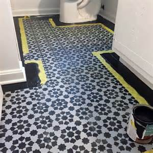 stenciled floor you can paint your vinyl tile