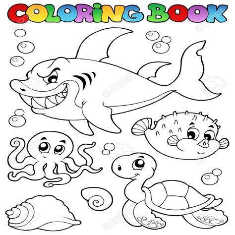imagenes de animales animados para colorear dibujos para colorear animales marinos diversos libros 1