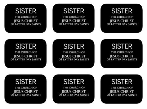 mormon name tag template all things bright and beautiful elder