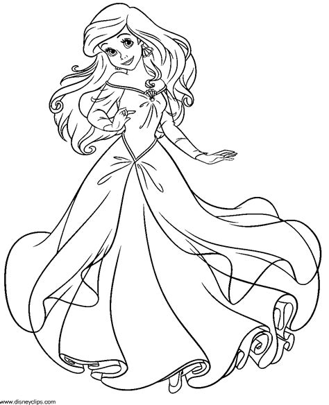 printable coloring pages ariel the little mermaid coloring pages to download and print