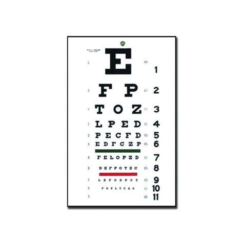 tavola optometrica tavola optometrica quot snellen quot tradizionale 28 x 56 6 1 m