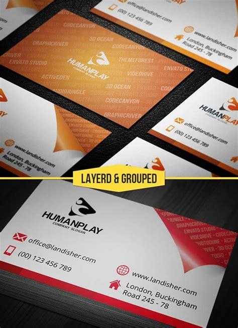 Corner Business Cards Templates by Peeled Corner On Business Card Design Landisher