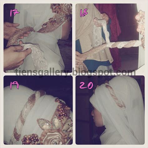 tutorial hijab syar i pengantin cara memakai jilbab pengantin syar i cara memakai jilbab