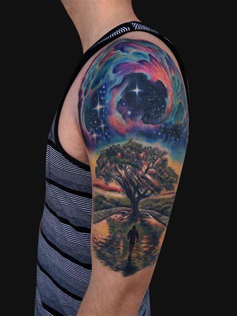 animal earth tattoo galaxy tree tattoo google search ink pinterest
