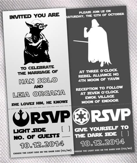 wars wedding invitation wording sle wars light side side wedding invitation