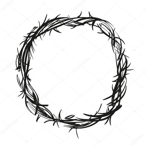 printable crown of thorns crown of thorns coloring pages