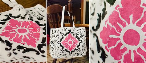 fabric pattern stencils ideas fabric stenciling gets edgy paint pattern