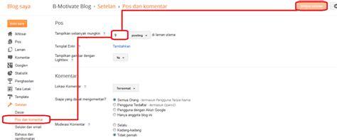 tutorial blogger 2014 cara membatasi jumlah postingan pada home page ushare blog