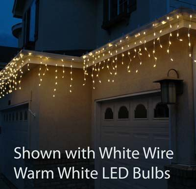 and white icicle lights white led icicle lights on white wire novelty