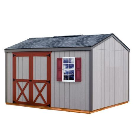 Wooden Storage Shed Kits by Cypress 12 Ft X 10 Ft Wood Storage Shed Kit With Floor