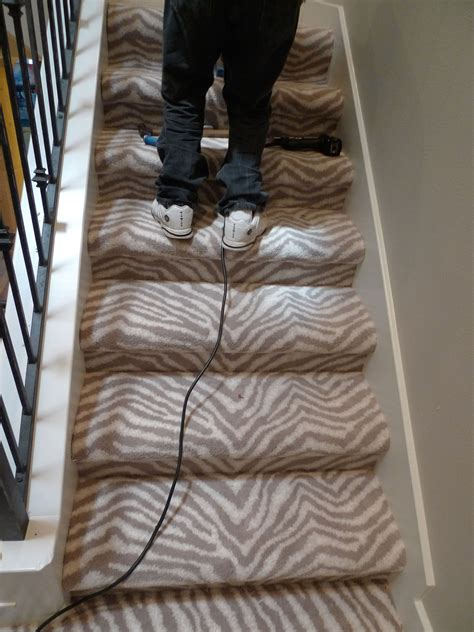 different ways to carpet stairs zebra staircase two different ways to carpet the stairs