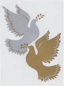 merry christmas car sticker peace doves