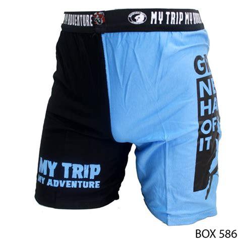 Celana Pendek Boxercelana Olahraga Pendek celana pendek boxer pria spandek biru box 586 gudang