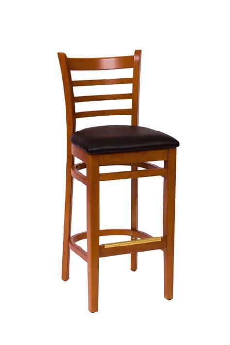 cherry wood ladder back bar stool bar restaurant