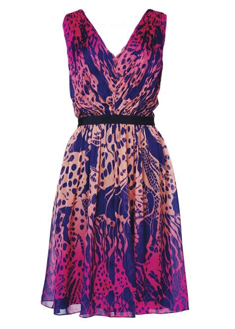 Matthew Williamson Lotus Chiffon Dress by Matthew Williamson Wing Lace Chiffon V Neck Dress In