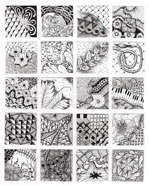 pattern of zentangle zentangle pattern page tattoo ideas doodles art tangled