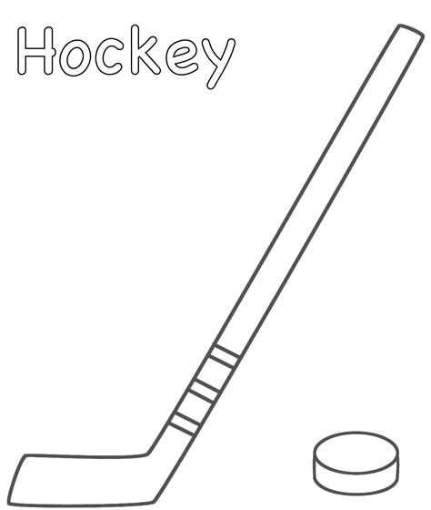 coloring book all hockey stick cliparts co