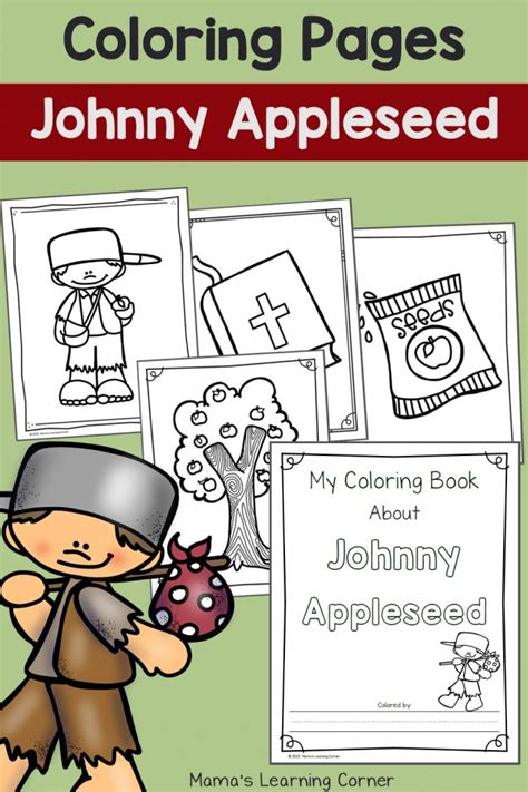 johnny appleseed coloring page johnny appleseed coloring pages mamas learning corner