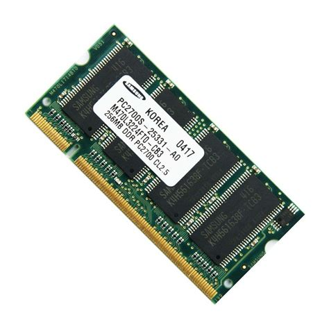 samsung 256mb pc2700 333mhz ddr sodimm laptop memory ram