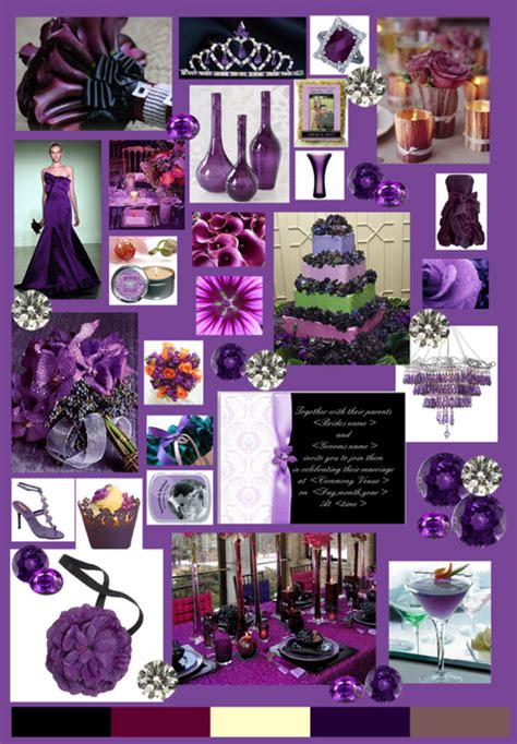 color theme ideas purple weddings decorations ideas pictures design