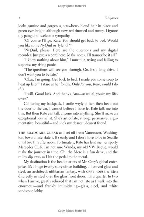 Chapter 1 page 4 - 50 shades of grey by E L James | Books