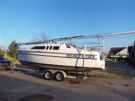used boats okc hunter 26 1994 newalla oklahoma sailboat for sale from