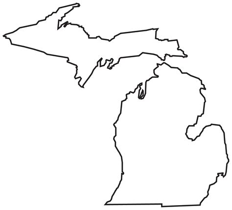Large Outlines Of States by Michigan Printable Map Clipart Best Clipart Best