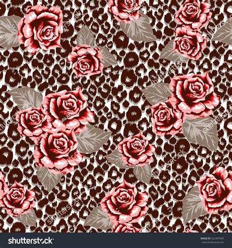 tessuti fiorati brown animal pattern seamless on leopard stock vector