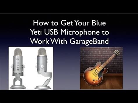 how to get your blue yeti usb microphone to work with