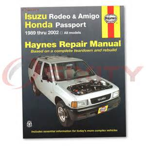 Isuzu Repair Manual Isuzu Rodeo Haynes Repair Manual S V6 Ls Lse Xs Shop