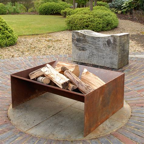 chunk welded steel fire pit steel fire pit steel and