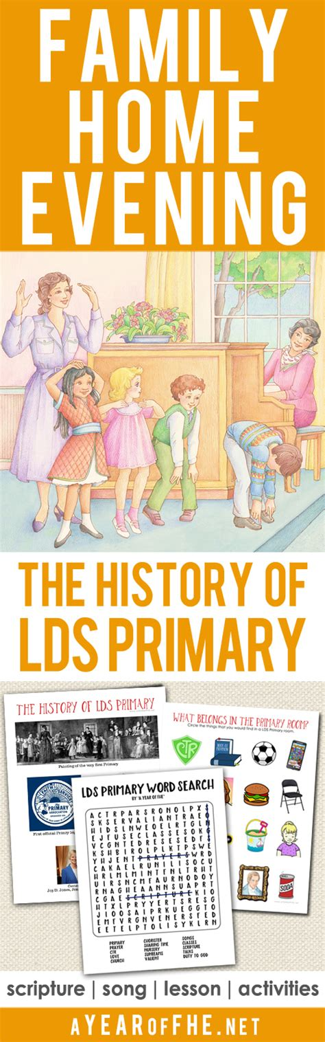 a year of fhe year 02 lesson 07 the history of lds primary