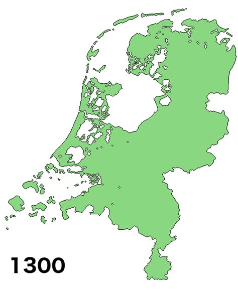 netherlands land map land reclamation in the netherlands 1300 vs 2000