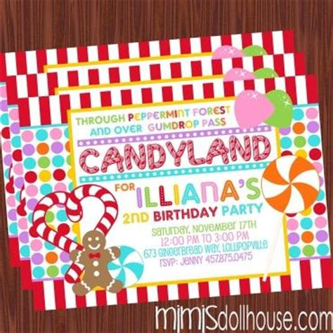 printable candyland instructions candyland invitation invitations auction and the punch