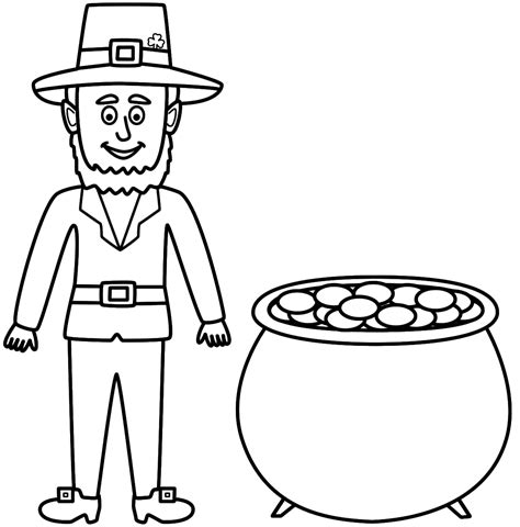 printable leprechaun images free printable leprechaun coloring pages coloring home