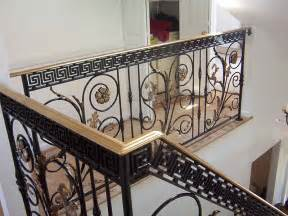 pin indoor iron stair railing on