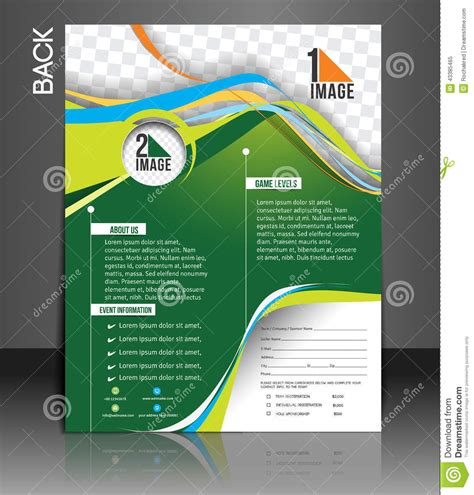 competition flyer template free tennis competition flyer stock vector illustration of