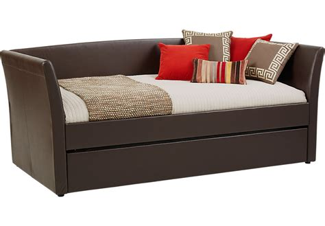 rooms to go day beds brianne brown daybed beds dark wood